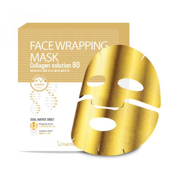 [BERRISOM] Face Wrapping Mask Collagen Solution 80 - 1pack (5pcs)