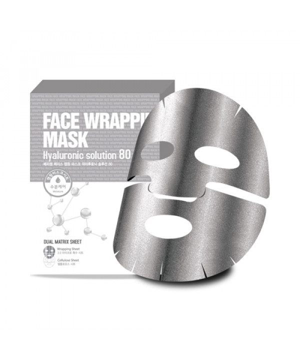 [BERRISOM] Face Wrapping Mask Hyaluronic Solution 80 - 1pack (5pcs)