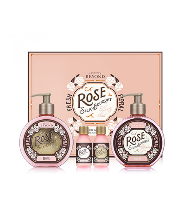 [BEYOND] Rose Silk Bouquet Body Gift Set - 1pack (4items)