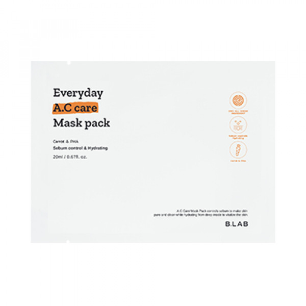 [B_LAB] Everyday A.C Care Mask Pack - 3pcs