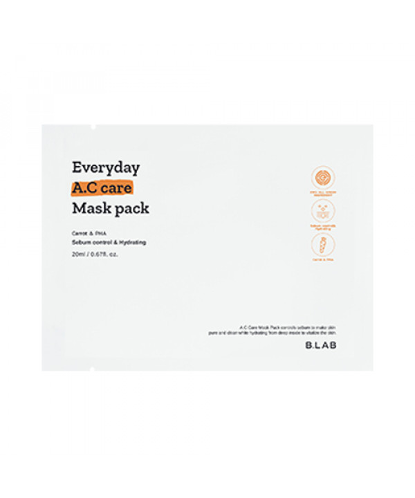 W-[B_LAB] Everyday A.C Care Mask Pack - 1pcs x 10ea