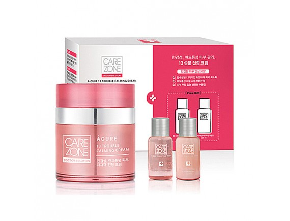 [CARE ZONE] Doctor Solution A Cure 13 Trouble Calming Cream Set - 1pack (3item)