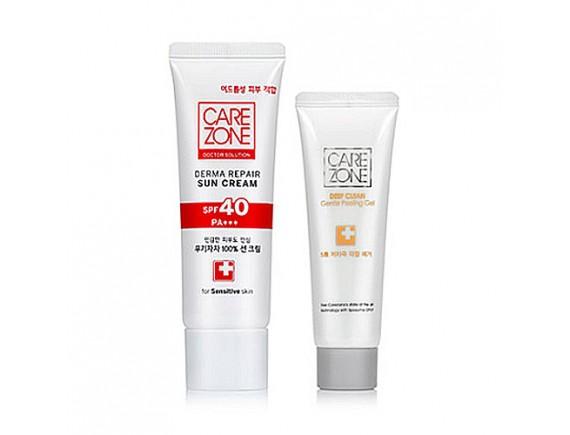 [CARE ZONE] Doctor Solution Derma Repair Sun Cream (SPF40 PA+++) - 50ml (+Peeling Gel 50ml)