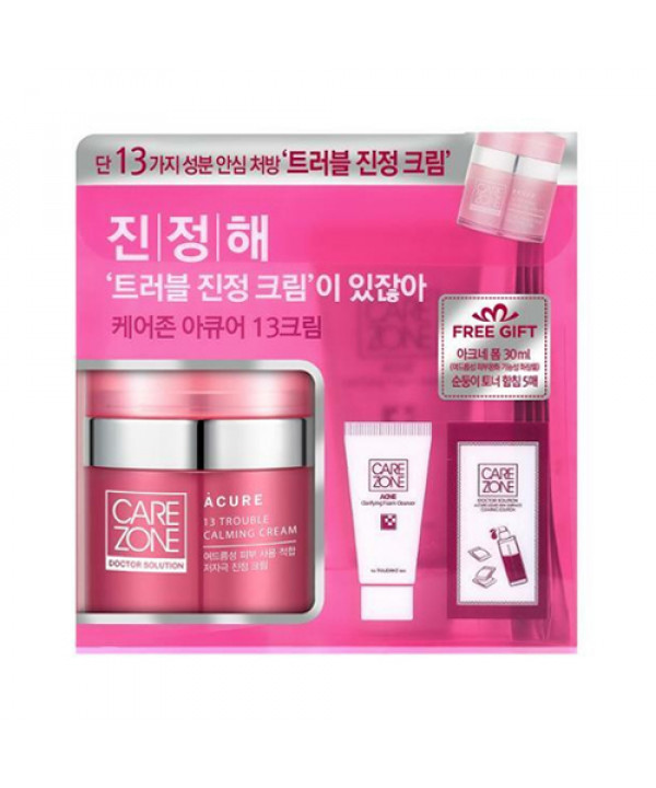 [CARE ZONE] Doctor Solution A Cure 13 Trouble Calming Cream Set - 1pack (3items)