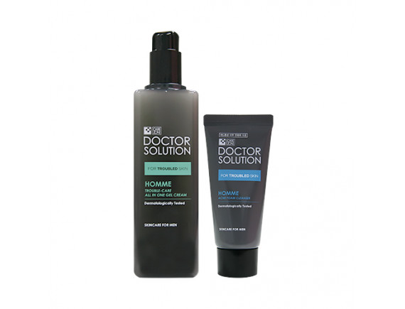 [CARE ZONE] Doctor Solution Homme Trouble Care All In One Gel Cream Set - 1pack (2items)
