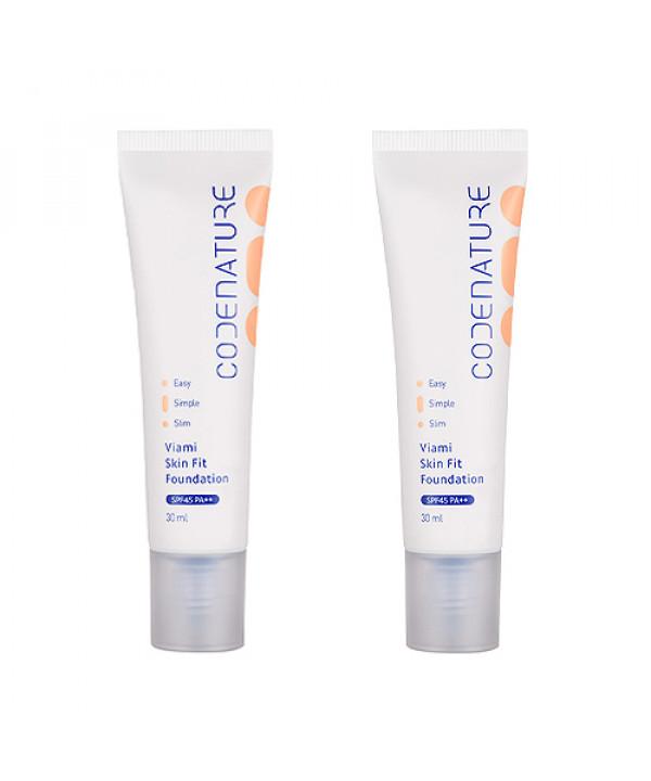 [CODENATURE] 1+1 Viami Skin Fit Foundation - 30ml (SPF45 PA++)