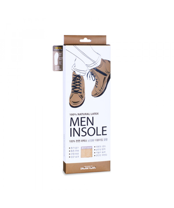 [DREAM HEART] Natural Latex Men Double Type Insole - 1pack