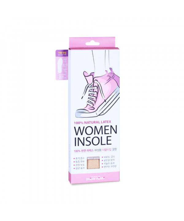 [DREAM HEART] Natural Latex Women Double Type Insole - 1pack
