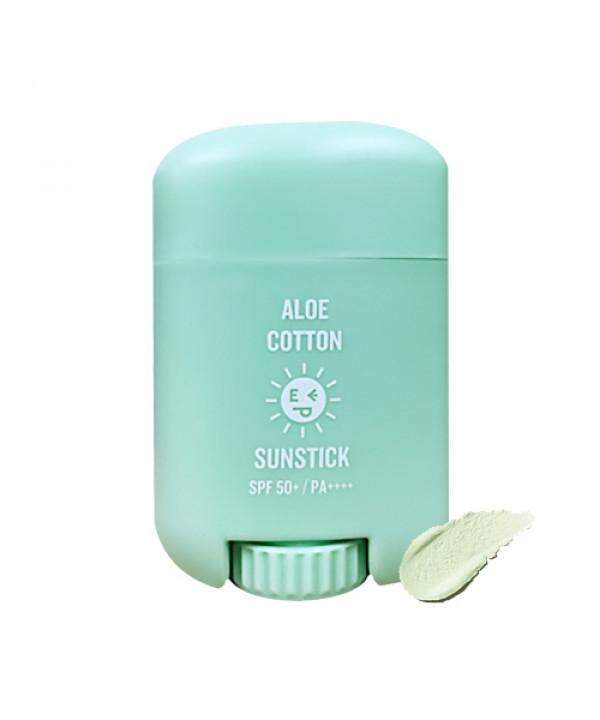 [EASYPEASY] Aloe Cotton Sun Stick - 15g (SPF50+ PA++++)