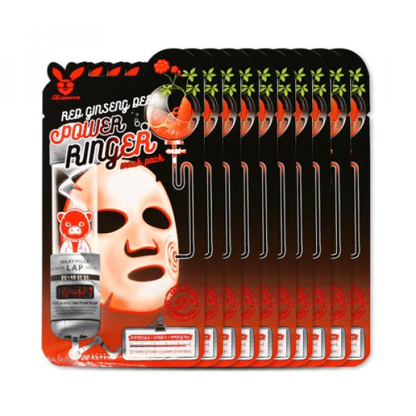 [ELIZAVECCA] Red Ginseng Deep Power Ringer Mask Pack - 1pack (10pcs)