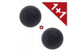 [EONNII] 1+1 Natural Konjac Soft Cleansing Puff - 1pcs No.Charcoal