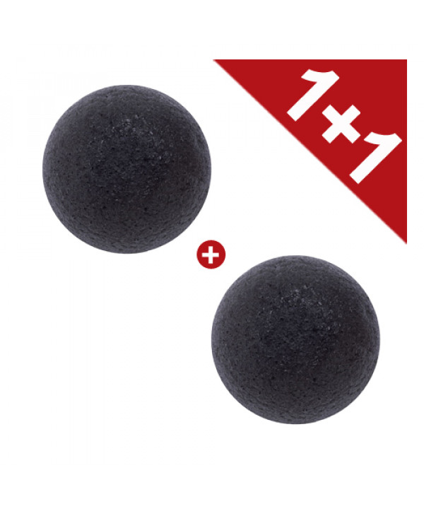 [EONNII] 1+1 Natural Konjac Soft Cleansing Puff - 1pcs No.Charcoal