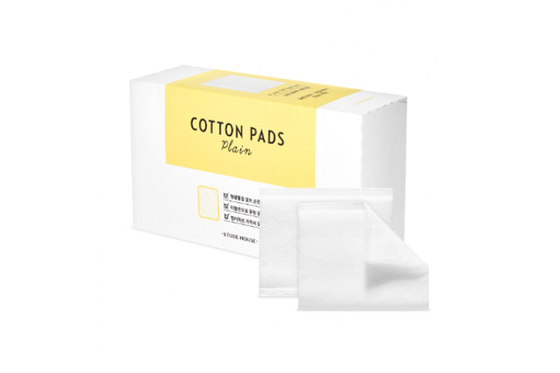 [ETUDE HOUSE] Plain Cotton Pads - 1pack (80pcs)
