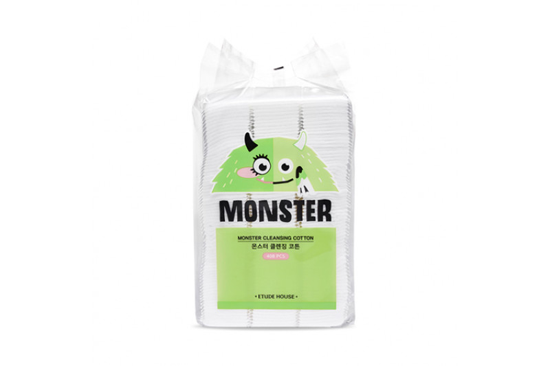 [ETUDE HOUSE] Monster Cleansing Cotton - 1pack (408pcs)