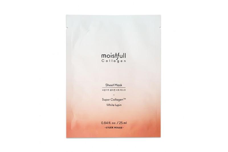 W-[ETUDE HOUSE] Moistfull Collagen Facial Mask Sheet - 1pcs (2019) x 10ea
