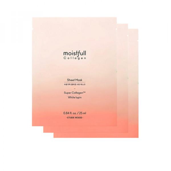 [ETUDE HOUSE] Moistfull Collagen Deep Sheet Mask - 3pcs