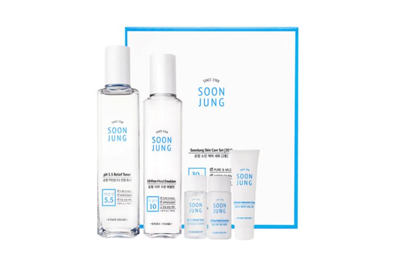 [ETUDE HOUSE] Soonjung Skin Care Set - 1pack (5items)