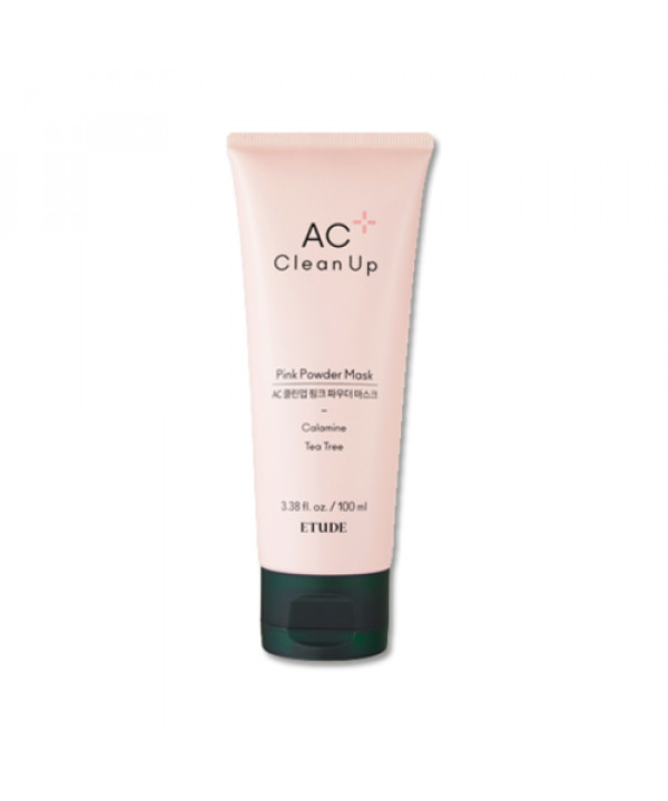 W-[ETUDE HOUSE] AC Clean Up Pink Powder Mask (2019) - 100ml x 10ea