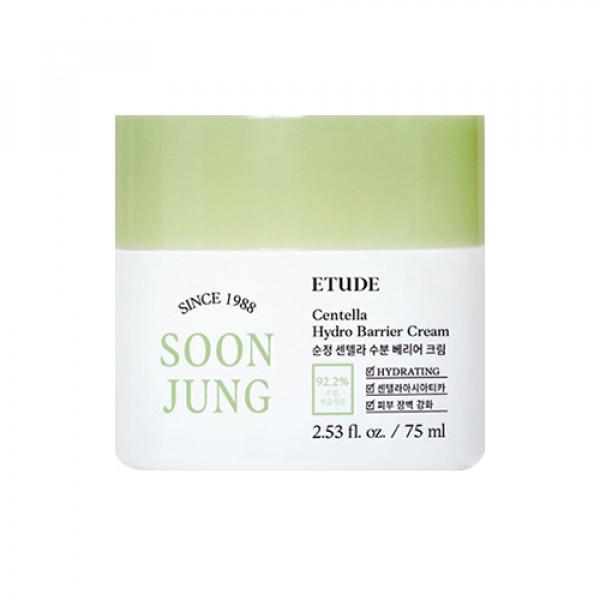 W-[ETUDE HOUSE] Soonjung Centella Hydro Barrier Cream - 75ml x 10ea