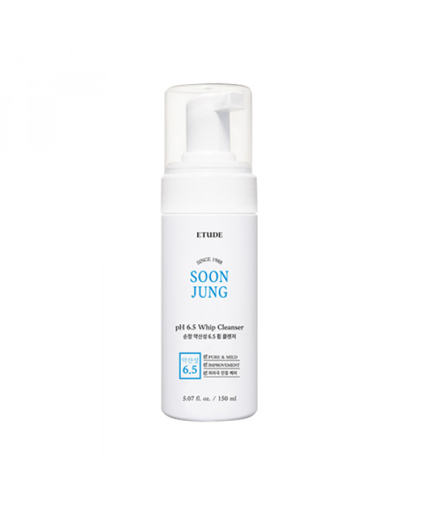 [ETUDE HOUSE] Soonjung pH 6.5 Whip Cleanser (2021) - 150ml