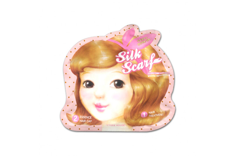 W-[ETUDE HOUSE] Silk Scarf Double Care Hair Mask Sheet - 1pcs x 10ea