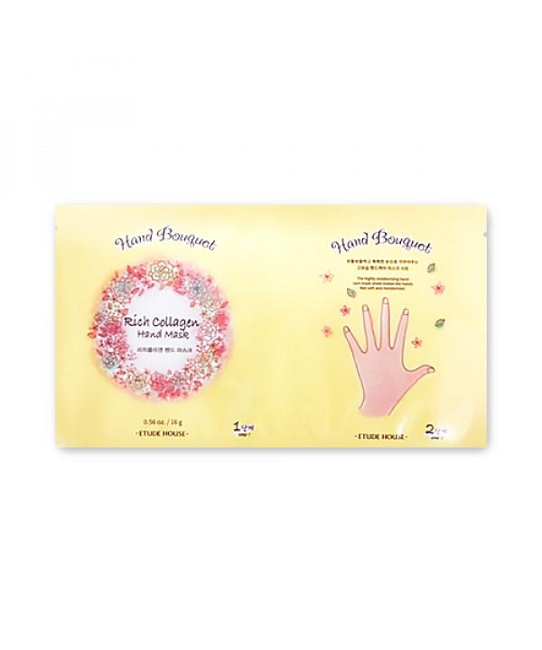 [ETUDE HOUSE] Hand Bouquet Rich Collagen Hand Mask Sheet - 1pcs