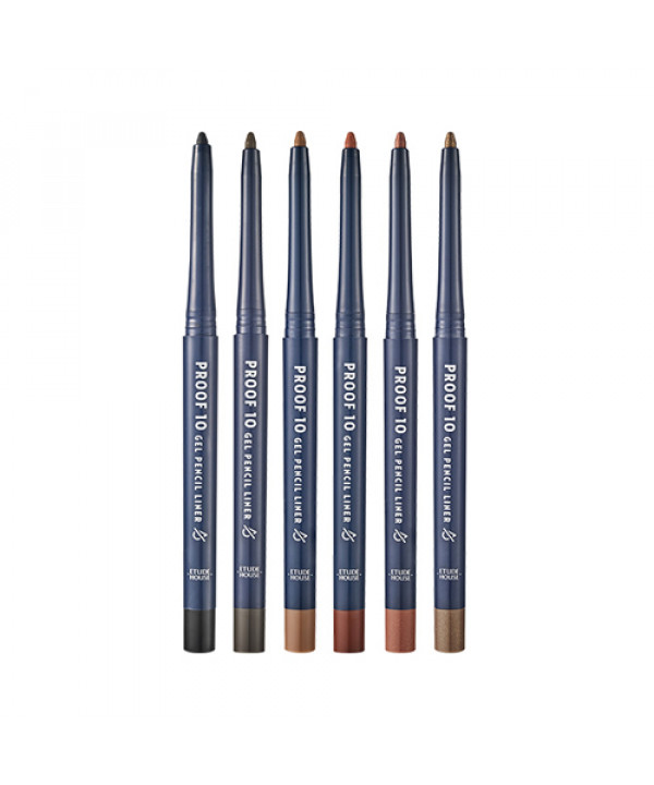 W-[ETUDE HOUSE] Proof 10 Gel Pencil Liner - 0.3g x 10ea