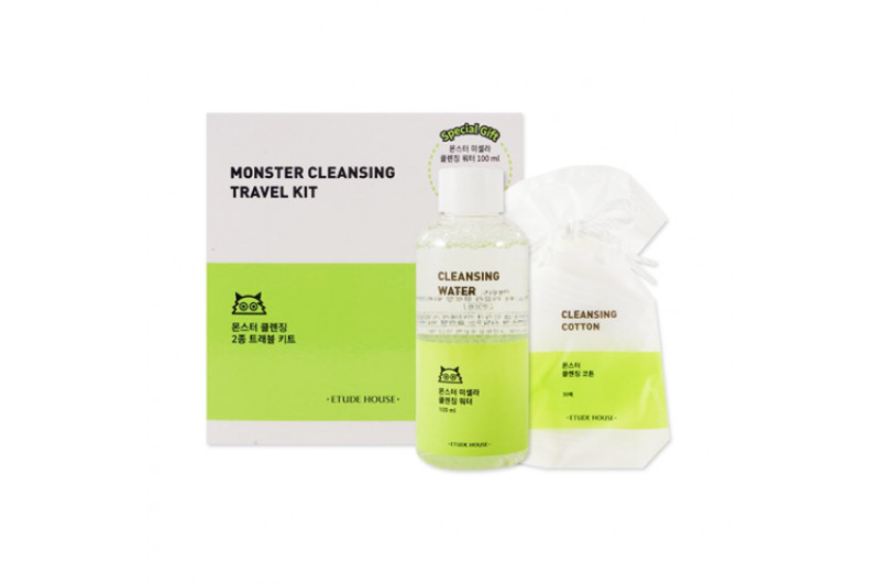 [ETUDE HOUSE_Sample] Monster Cleansing Travel Kit Samples - 1pack (2items) (EXP 2020.07.17)
