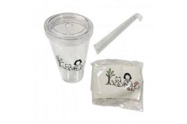 [ETUDE HOUSE_Sample] Ice Tumbler & Drink Bag Sample - 1pack (350ml+1pcs)