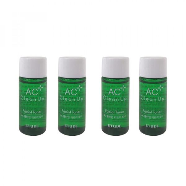 [ETUDE HOUSE_Sample] AC Clean Up Facial Toner Samples - 15ml x 4ea