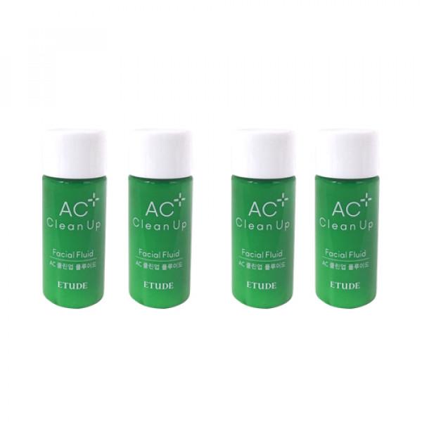 [ETUDE HOUSE_Sample] AC Clean Up Facial Fluid Samples - 15ml x 4ea