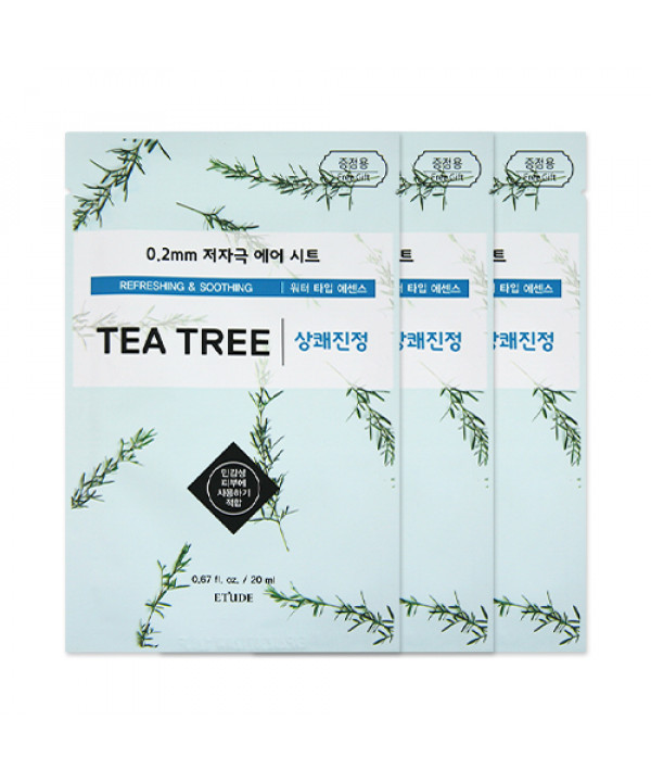 [ETUDE HOUSE_Sample] 0.2 Therapy Air Mask Samples - 3pcs No.Tea Tree
