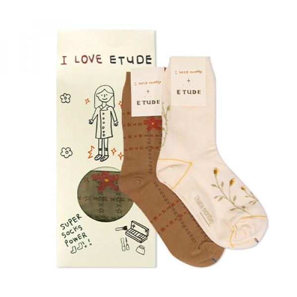 [ETUDE HOUSE_Sample] I Hate Monday Collaboration Socks Sample - 1pack (2items)