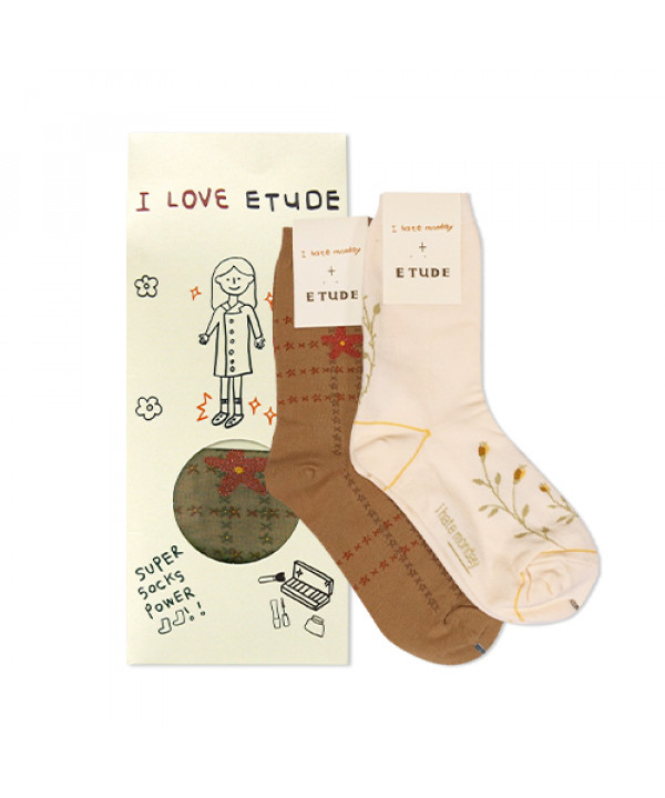 [ETUDE HOUSE_Sample] I Hate Monday Collaboration Socks Sample - 1pack (2items)