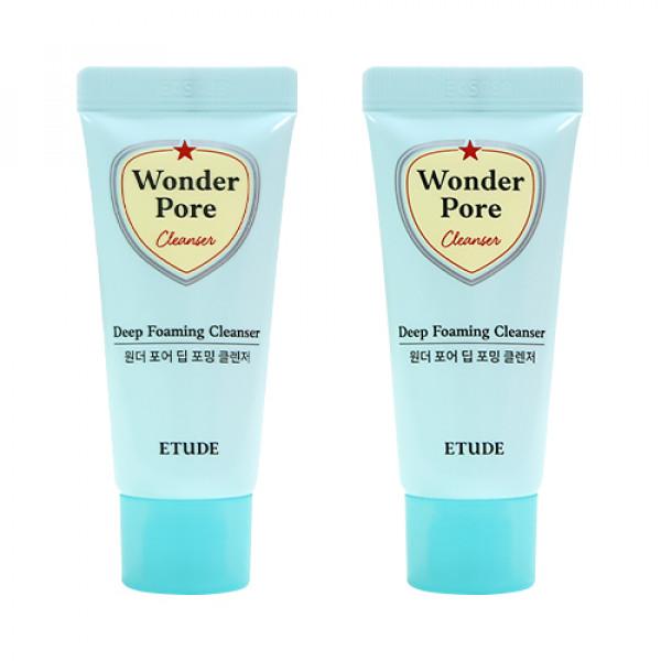 [ETUDE HOUSE_Sample] Wonder Pore Deep Foaming Cleanser Samples - 20g x 2ea