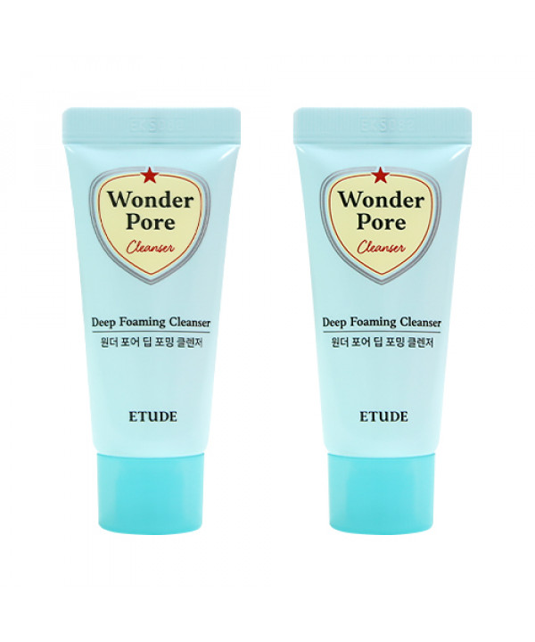 [ETUDE HOUSE_Sample] Wonder Pore Deep Foaming Cleanser Samples - 20g x 2ea