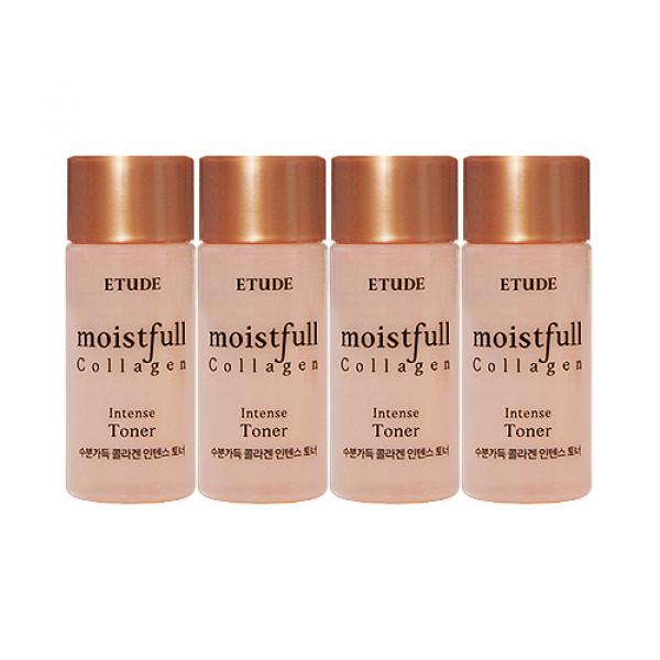 [ETUDE HOUSE_Sample] Moistfull Collagen Intense Toner Samples - 15ml x 4ea