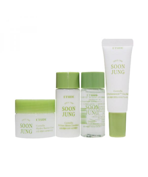 [ETUDE HOUSE_Sample] Soonjung Centella Skin Care Trial Kit Samples - 1pack (4items)