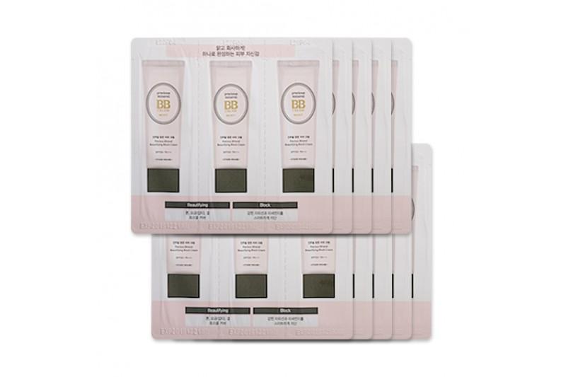 [ETUDE HOUSE_Sample] Precious Mineral BB Cream Moist Samples - 10pcs No.Beige No.Petal No.Vanilla