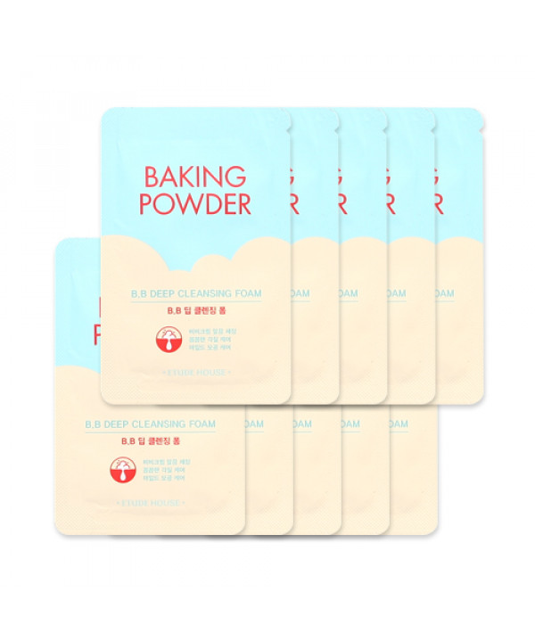 [ETUDE HOUSE_Sample] Baking Powder BB Deep Cleansing Foam Samples - 10pcs
