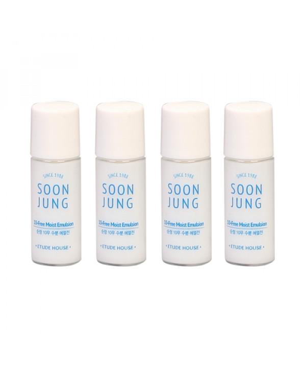 [ETUDE HOUSE_Sample] Soon Jung 10 Free Moist Emulsion Samples - 5ml x 4ea