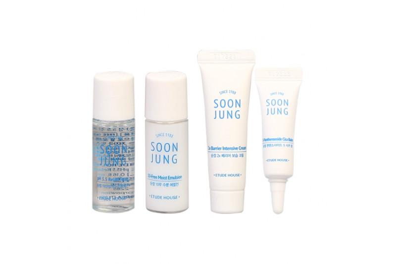 [ETUDE HOUSE_Sample] Soon Jung Skin Care Trial Kit Samples - 1pack (4ea)
