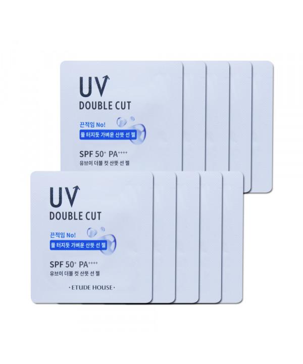[ETUDE HOUSE_Sample] UV Double Cut Fresh Sun Gel Samples - 10pcs (SPF50+ PA++++)
