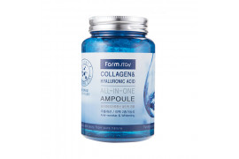 [FARM STAY_LIMITED] Collagen & Hyaluronic Acid All In One Ampoule - 250ml ( Flawed Case )
