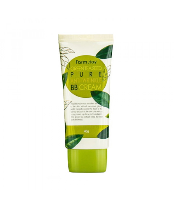 [FARM STAY] Green Tea Seed Pure Anti Wrinkle BB Cream - 40g