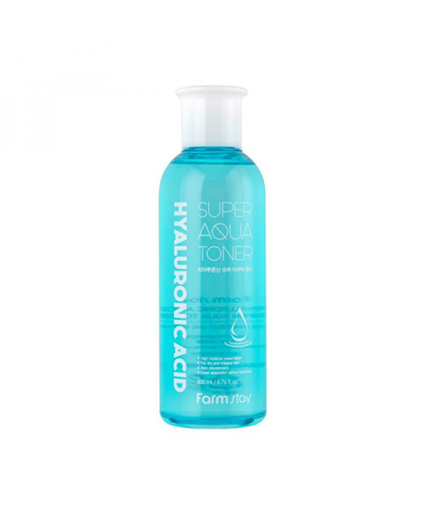 [FARM STAY] Hyaluronic Acid Super Aqua Toner - 200ml