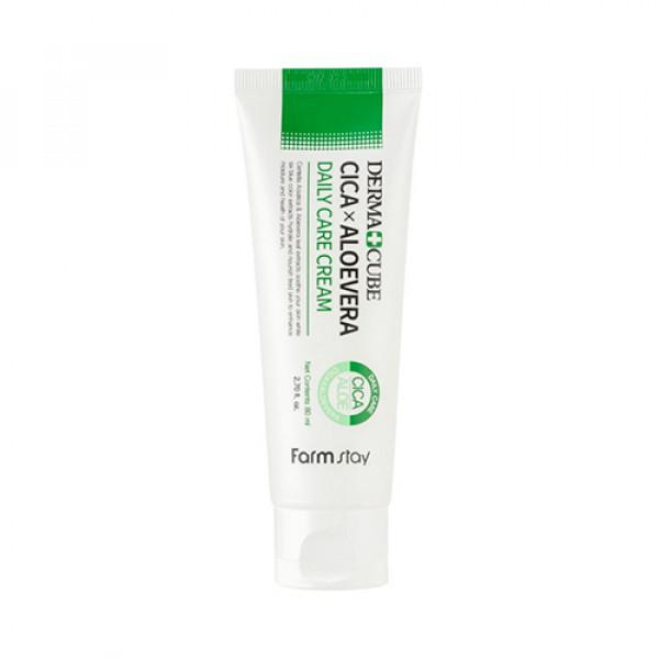 [FARM STAY] Derma Cube Cica x Aloevera Daily Care Cream - 80ml