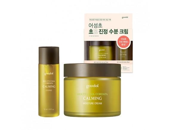 [GOODAL] Houttuynia Cordata Calming Moisture Cream Set - 1pack (2items)