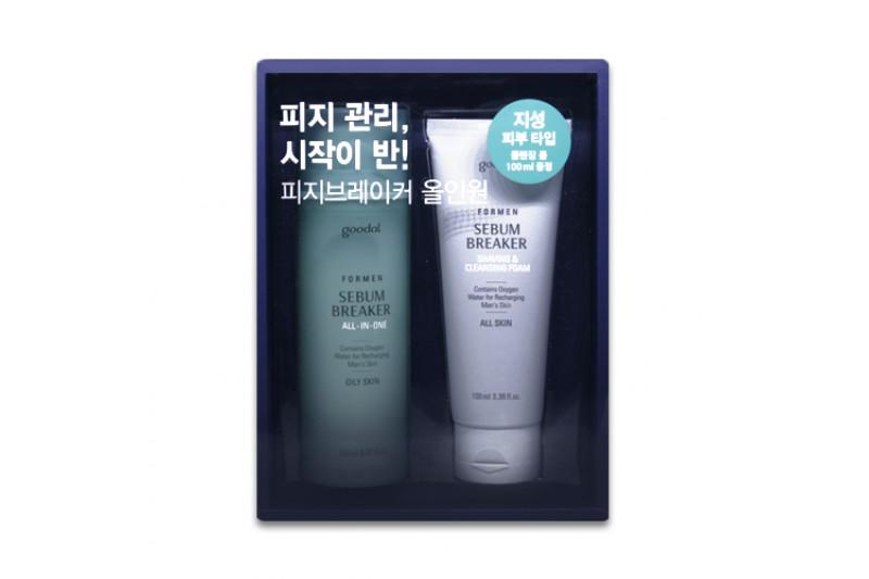 [GOODAL] For Men Sebum Breaker All In One Set - 1pack (2item) No.Oily Skin