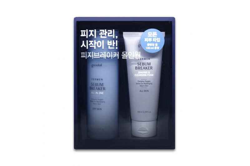 [GOODAL] For Men Sebum Breaker All In One Set - 1pack (2item) No.Dry Skin